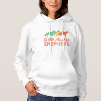 German Shepherd Retro Pop Art Hoodie