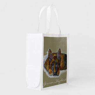 German Shepherd reusable market bag
