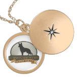 German Shepherd Round Locket Necklace