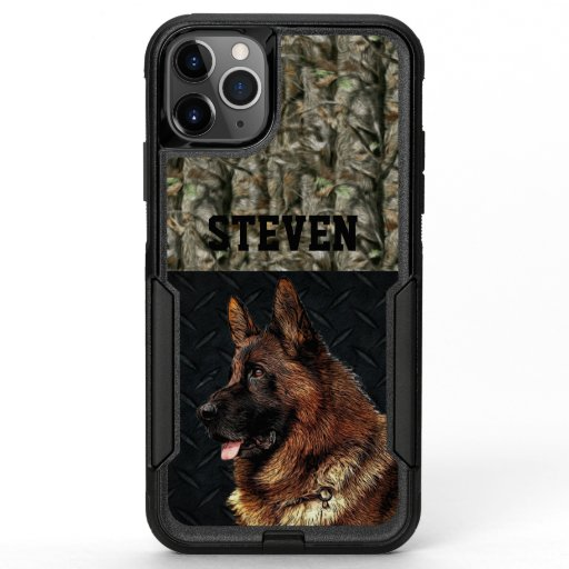 German Shepherd Rugged Camo Name Cool Dog Animal OtterBox Commuter iPhone 11 Pro Max Case
