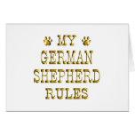 German Shepherd Rules Gold Greeting Cards