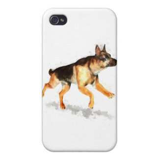 German Shepherd Running iPhone 4/4S Cases