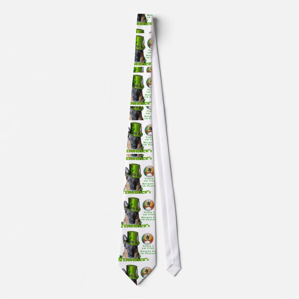 German Shepherd Saint Patrick's Day Neck Tie