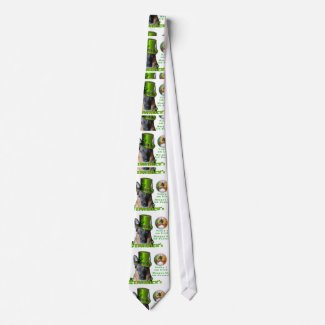 German Shepherd Saint Patrick's Day Neck Tie