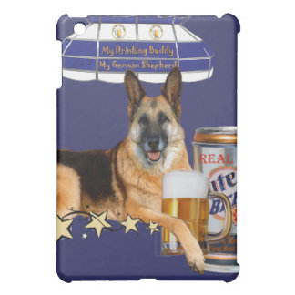 German Shepherd Share A Beer IPAD SKINS iPad Mini Cases