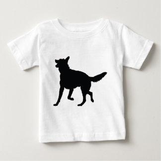 German Shepherd Silhouette Baby T-Shirt