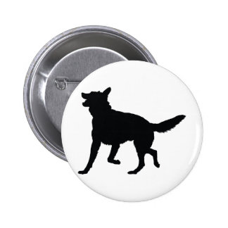German Shepherd Silhouette Button