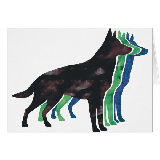 German Shepherd Silhouette Card