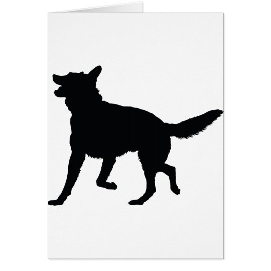 German Shepherd Silhouette Card