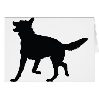 German Shepherd Silhouette Cards