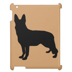 Case Savvy Glossy Finish iPad Case with German Shepherd Phone Cases design