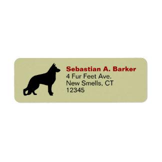 German Shepherd Silhouette Return Address Labels