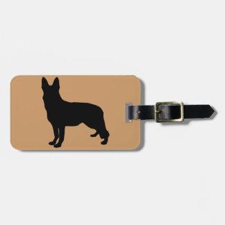 German Shepherd Silhouette Luggage Tags