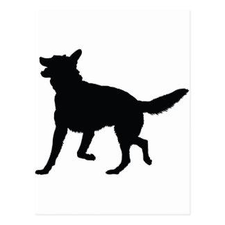 German Shepherd Silhouette Postcard