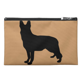 German Shepherd Silhouette Travel Accessory Bag