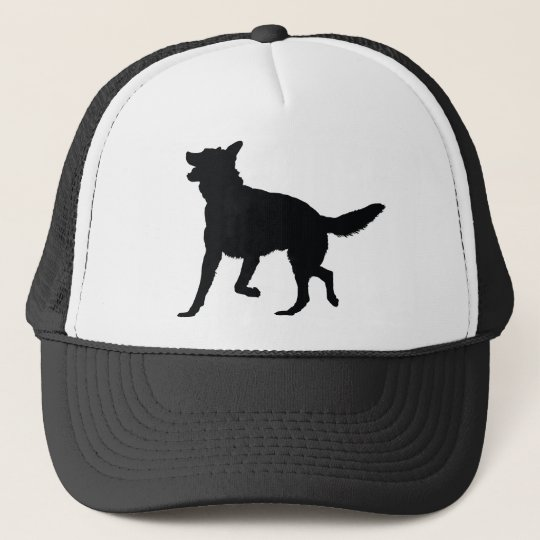 German Shepherd Silhouette Trucker Hat