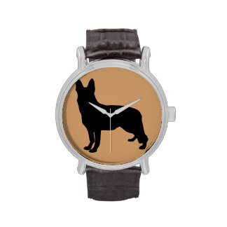 German Shepherd Silhouette Watches