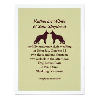 German Shepherd Silhouettes Wedding Invitation