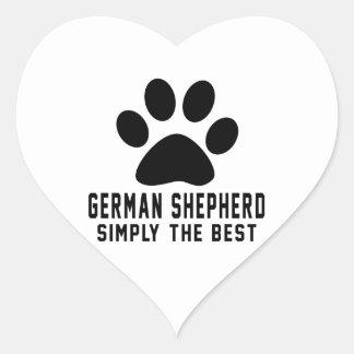 German Shepherd Simply the best Heart Sticker