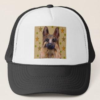 German Shepherd Soldier Art Trucker Hat