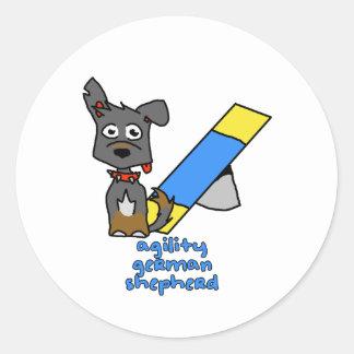 German Shepherd Sports Classic Round Sticker