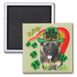 German Shepherd St. Patrick's Day Refrigerator Magnets