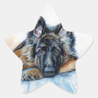 German Shepherd Star Sticker