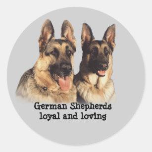 German Shepherd Stcker Classic Round Sticker