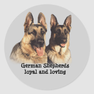 German Shepherd Stcker Classic Round Sticker