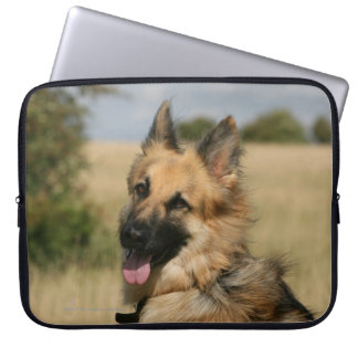 German Shepherd Sticking Tongue Out Computer Sleeve