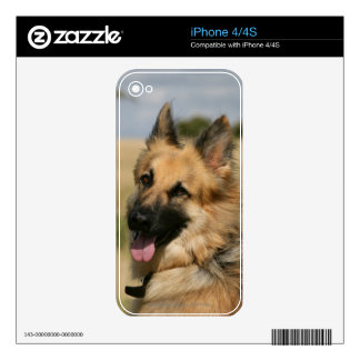 German Shepherd Sticking Tongue Out Decals For iPhone 4S