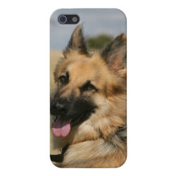 Case Savvy iPhone 5 Matte Finish Case with German Shepherd Phone Cases design