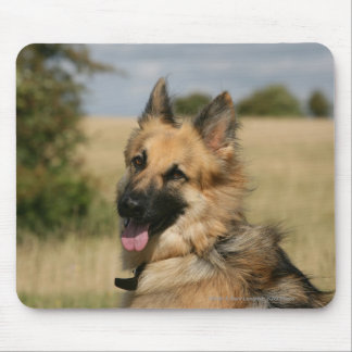 German Shepherd Sticking Tongue Out Mouse Pad
