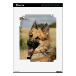 German Shepherd Sticking Tongue Out Skin For iPad 3