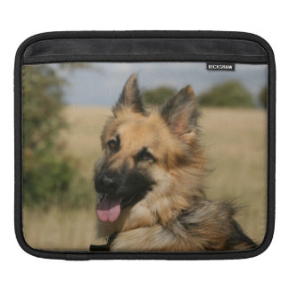 German Shepherd Sticking Tongue Out Sleeve For iPads