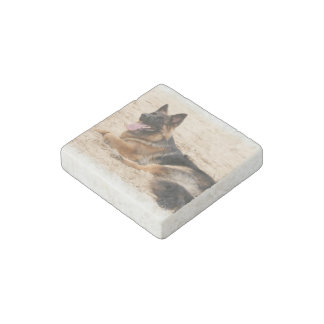 German Shepherd Stone Magnet