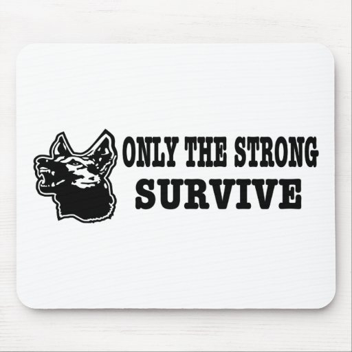 German Shepherd Strong Survive Mouse Pad