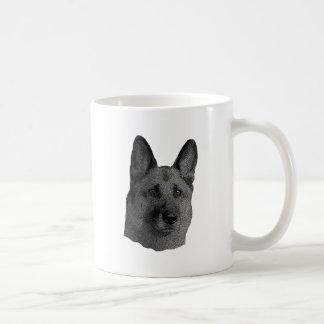 German Shepherd Stylized Image Mugs