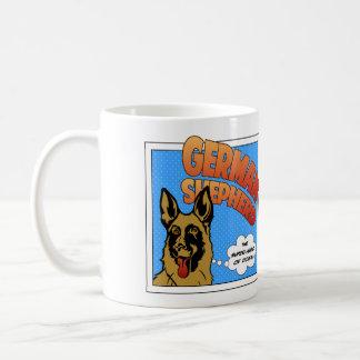 German Shepherd - Super Hero Classic White Coffee Mug