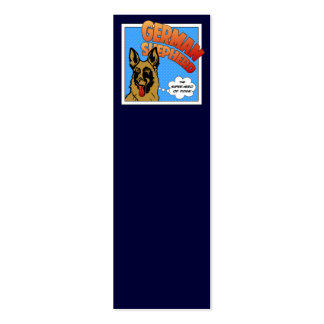 German Shepherd Super Hero Double-Sided Mini Business Cards (Pack Of 20)