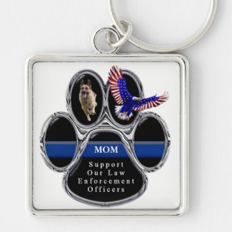 German Shepherd - Support Law Enforcement Officers Keychain