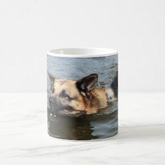 German Shepherd swimming Coffee Mug