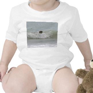 german shepherd swimming in wave tee shirt