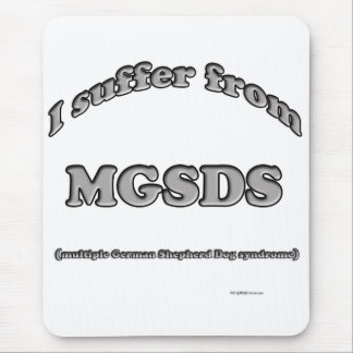 German Shepherd Syndrome Mouse Pad