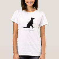 German Shepherd T-shirt (black version 2)