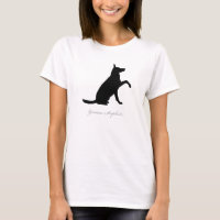 German Shepherd T-shirt (black version 3)
