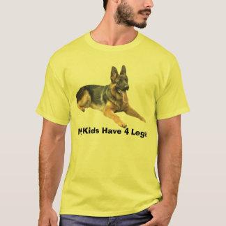 German Shepherd T-Shirt My Kids Have 4 Legs