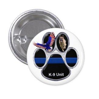 German Shepherd Thin Blue Line Button