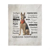 German Shepherd Traits Fleece Blanket