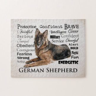 German Shepherd Traits Puzzle